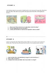 English Worksheets: Match the jokes and captions