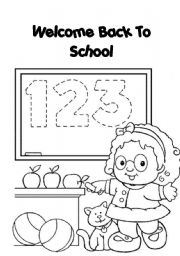 English worksheet: welcome back to school