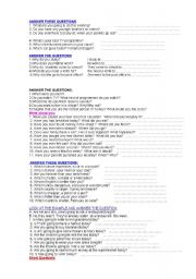 English Worksheets: ANSWER THESE QUESTIONS PART 2