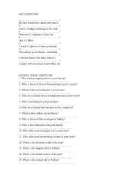 English Worksheets: ASK QUESTIONS PART 2
