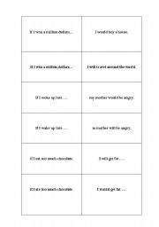 English Worksheets: What If...?  Sentence Jigsaw