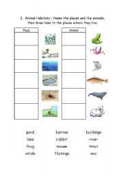 animal habitats 2 esl worksheet by logos. Black Bedroom Furniture Sets. Home Design Ideas