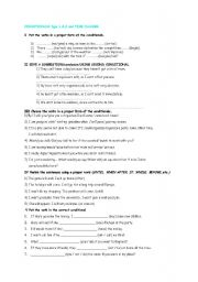 English Worksheets: TEST ON CONDITIONALS TYPE 1 & 2, PROBABILITY MODALS AND AGREEMENT AND DISAGREEMENT