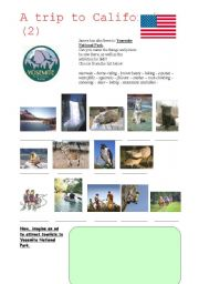 English Worksheets: A trip to California (2)