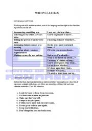 English Worksheets: Writing letters