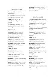 English Worksheets: telephone inquiries