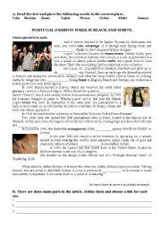 English Worksheet: Portugal Fashion
