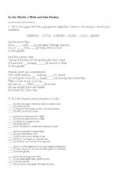 English Worksheet: Song - In the Ghetto  -  Elvis Presley