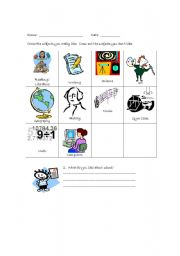 English Worksheets: Interest Inventory page 1
