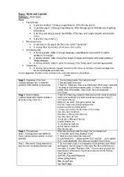 English Worksheets: Myths and Legends.