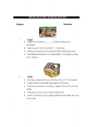 English Worksheet: THE MULTIPLE INTELLIGENCES JEOPARDY