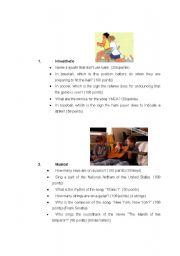 English Worksheet: THE MULTIPLE INTELLIGENCES JEOPARDY