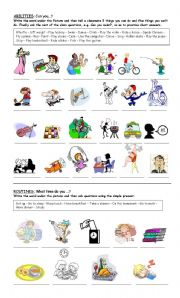 English Worksheets: Abilities and Routines