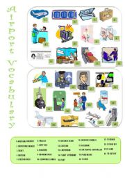 English Worksheet: Airport vocabulary