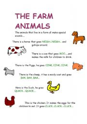 English Worksheets: THE FARM ANIMALS