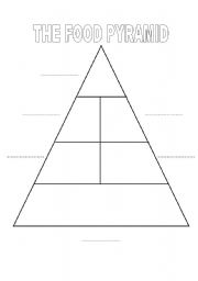 photo regarding Food Pyramid Printable identified as food stuff pyramid - ESL worksheet by way of martalara