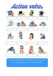 English Worksheets: Lilo and Stitch