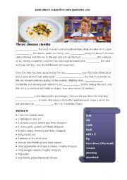 English Worksheet: Jamie Oliver�s recipe