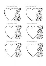 English teaching worksheets Valentines day card
