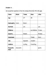 English Worksheets: Gap fill questions