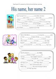 English Worksheet: Possessive pronouns 2