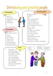 English Worksheets: Introducing and greeting people