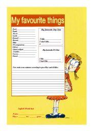 English Worksheets: Likes