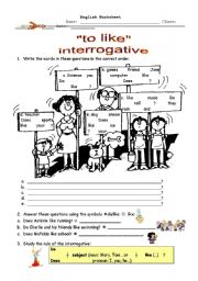 English Worksheets: Interrogative of
