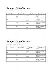 English worksheet: Irregular Verbs -3