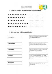 english worksheets the atmosphere. Black Bedroom Furniture Sets. Home Design Ideas