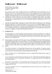 English Worksheet: Bollywood - text