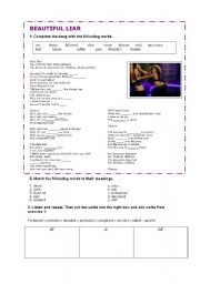 English Worksheet: Beyonce and Shakira�s Beautiful liar