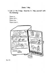 English Worksheet: Food + some and any