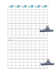 English Worksheet: Battleship English
