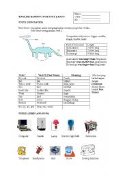 English Worksheets: Dinosaurs and Inventions