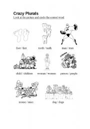 English Worksheets: Crazy Plurals