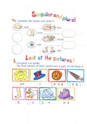 English Worksheets: about body