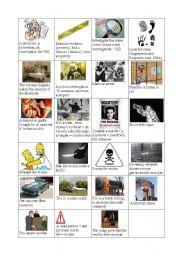 English Worksheets: crime investigation