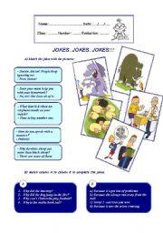 English Worksheet: JOKES�JOKES�JOKES!!!