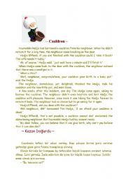 English Worksheets: Hodja One  Day.............