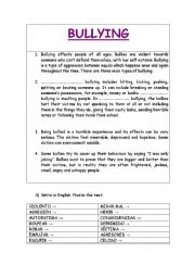Anti-bully questionnaire. | 5th grade | Pinterest | Anti bullying ...