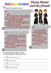 English Worksheets: Harry Potter and his friends