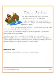English Worksheets: Young Arthur