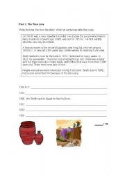 English Worksheets: Part 1 writing test/activities
