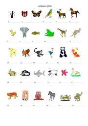 animals quiz esl worksheet by imparator. Black Bedroom Furniture Sets. Home Design Ideas