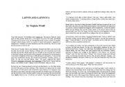 English Worksheets: lappin and lapinova
