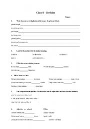 Printables German Grammar Worksheets english worksheets class 8 grammar revision worksheet revision