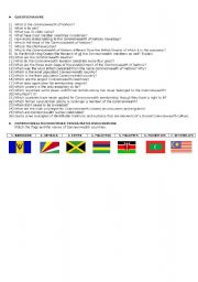English Worksheets: COMMONWEALTH OF NATIONS READING COMPREHENSION PART 2