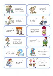 English Worksheets: Personal Information Cards - Set 1