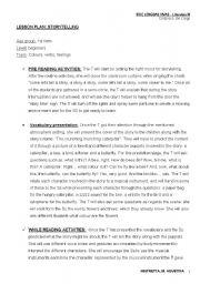 English Worksheets: lesson plan: storytelling.